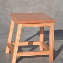 Off Center Low Stool