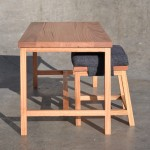 Off Centre table and stool